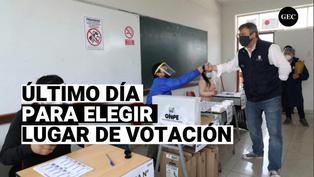 ONPE: Elección de lugar de sufragio vence hoy 3 de enero
