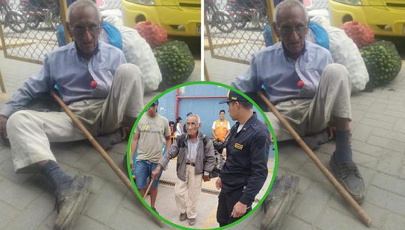 Abuelito que estuvo abandonado en Sullana vuelve a su hogar (FOTO)