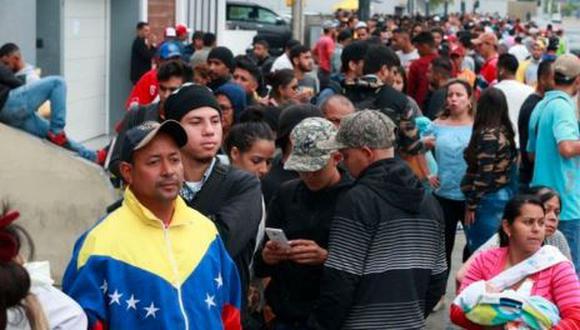 Venezolanos en Perú piden ayuda a Martín Vizcarra. (GEC)