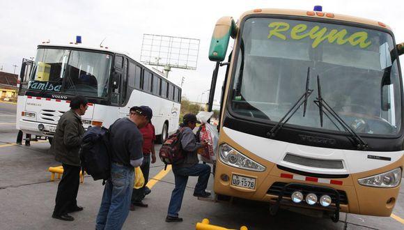 El transporte interprovincial y aéreo se encuentra actualmente suspendido debido a la pandemia del COVID-19. (Foto: GEC)