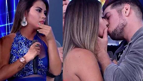 Thamara Gómez y su expareja Dimas Isla se dieron apasionado beso en vivo │VÍDEO