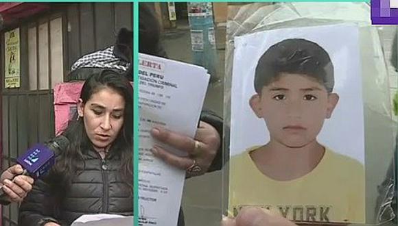 Madre busca, desesperadamente, a su hijo de ocho años desaparecido en Villa María del Triunfo