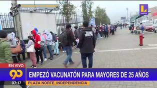 Empezó Vacunatón para mayores de 25 años en Plaza Norte