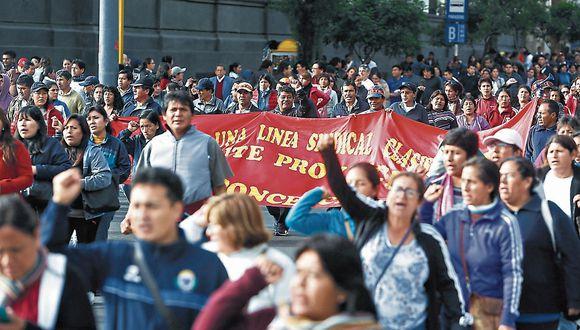 Maestros anuncian paro nacional el próximo jueves 21 de noviembre. (Foto: GEC)