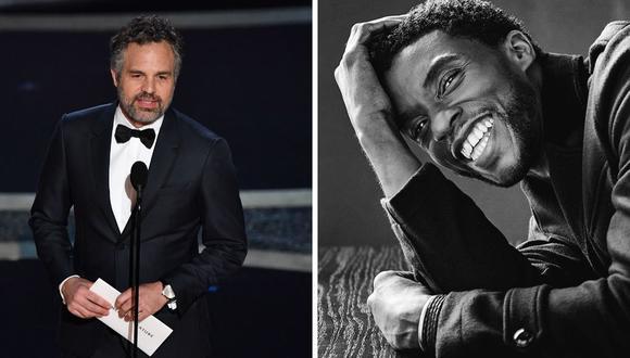 """Mark Ruffalo recordó un especial cumpleaños que celebró Chadwick Boseman en los set de grabación de """"Avengers: Infinity War"""" (2018). (Foto: Instagram / @chadwickboseman / AFP: Mark Ralston)."""
