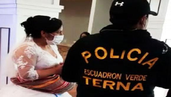 Los protagonistas del matrimonio, Yover y Delia, esperaban disfrutar de una tarde alegre, pero, tras la presencia de la policía fueron conducidos a la Comisaría Central de Huancayo (Foto: andina)