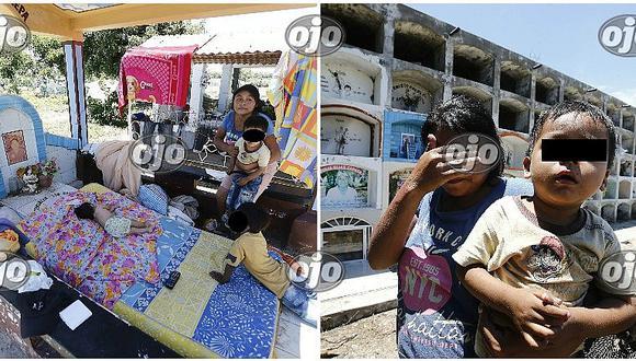 Piura: familias salvan sus vidas refugiándose en cementerio de Catacaos
