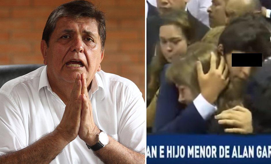 Hijo menor de Alan García y su madre llegaron al velatorio del expresidente (VIDEO)