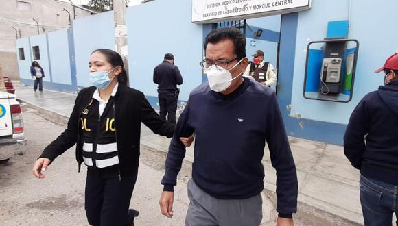 Chiclayo: Detienen a exfuncionario de la municipalidad provincial de Chiclayo, Leopoldo Vázquez Casas (75), investigado por la compra, presuntamente, sobrevalorada de gasolina. (Foto Sandro Chambergo)