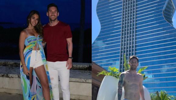 Pareja tuvo una cena romántica durante su estadía en Miami. Foto: @leomessi/@antonelaroccuzzo