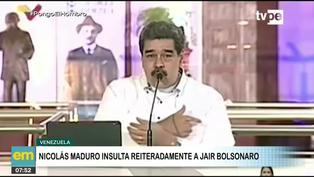 Nicolás Maduro insulta a Jair Bolsonaro por su gestión de la pandemia en Brasil