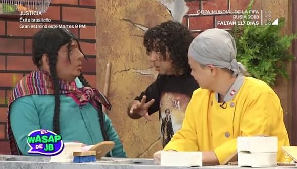 La paisana Jacinta grabó divertido sketch con dueños del chifa Asia (VÍDEO)