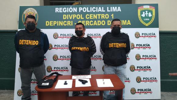 Delincuentes con amplio prontuario policial extorsionaban a comerciantes. (Foto: PNP)