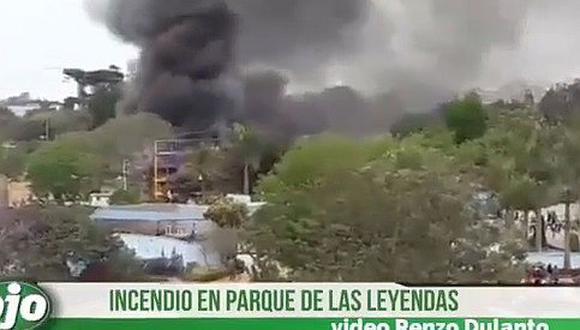 Reabren Parque de las Leyendas tras incendio en zona de juegos (VIDEO)