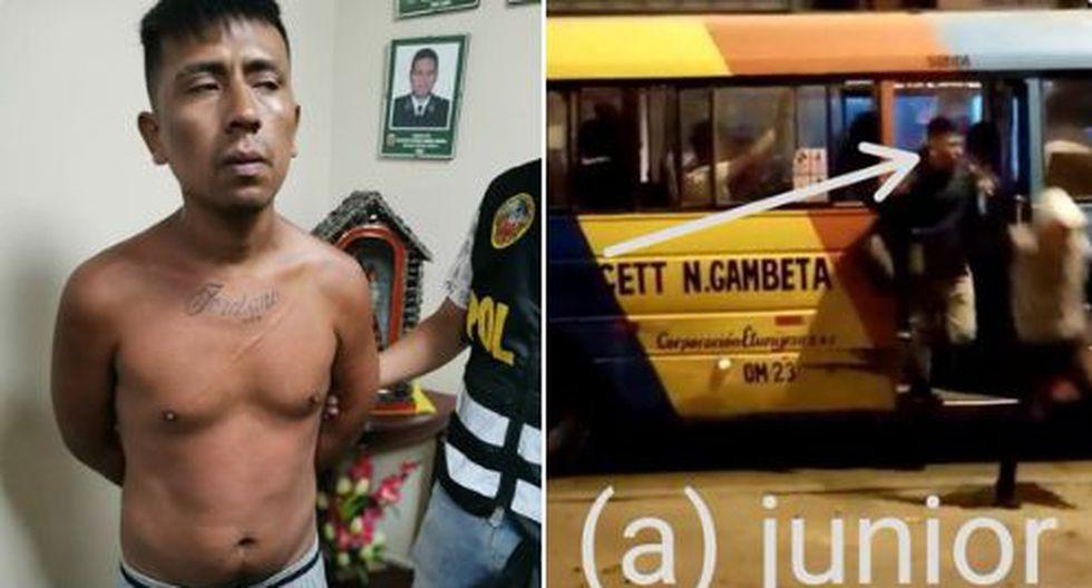 El Gral. Gastón Rodríguez, director Nacional de Orden y Seguridad, señaló que en el momento de la captura, Junior Galán aceptó su participación en el robo a los pasajeros del bus. (Foto: Mininter)