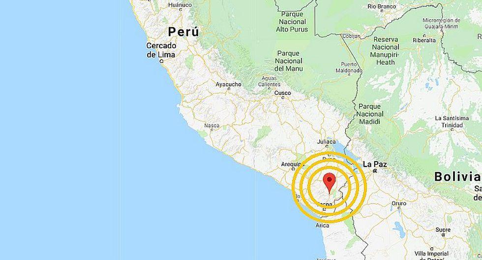 Sismo de 5.5 grados se registró esta mañana en Tacna