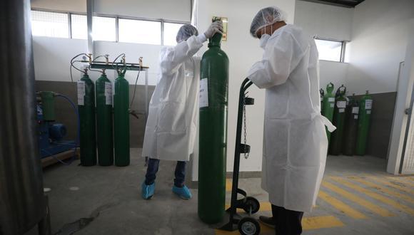 El Ministerio de Salud (Minsa) suministró más de 121 toneladas de oxigeno por día a hospitales y centros de salud de las 25 regiones.  (Foto: Britanie Arroyo / GEC)
