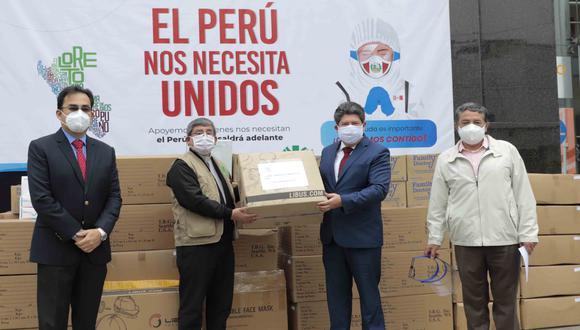 """""""El Perú nos necesita unidos"""": campaña entregó equipos de protección en cuatro regiones (Foto: CCL)."""