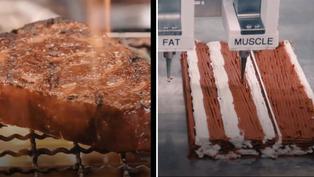 Venden bistec creado con impresora 3D