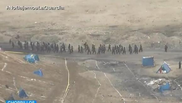 Policía Nacional inicia operativo para desalojar cerca de 5 mil invasores del Morro Solar en Chorrillos. (Captura: TVPerú)