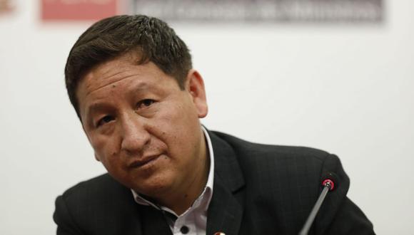 Guido Bellido realizó una conferencia de prensa tras renunciar a la Presidencia del Consejo de Ministros. (Foto: José Rojas Bashe/GEC)