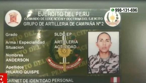 Exmiembro militar Wilder Anderson Hilario Quispe es sindicado como integrante de la banda denominada 'Los Chuquis de Payec'. (Captura: América Noticias)