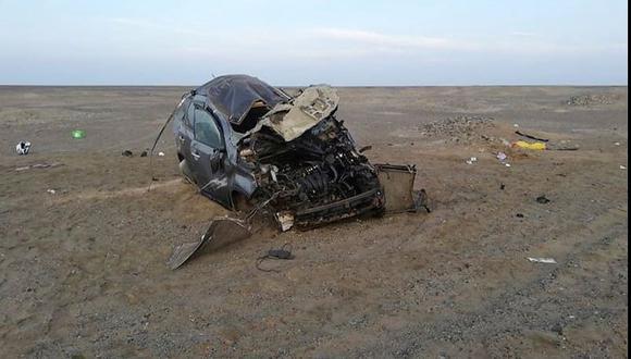 Abordo del accidentado vehículo iban sus dos menores hijos que lograron salvarse de la tragedia (Foto: PNP)