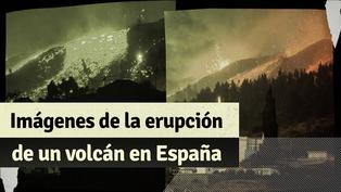 España: impactantes imágenes de la erupción de un volcán en las islas Canarias
