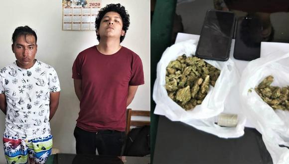 Arequipa: Atrapan a dos sujetos que vendían marihuana por delivery en la Ciudad Blanca (GEC)