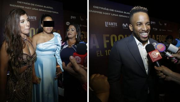 """Jefferson farfán llega a la avant premier de su película el """"10 de la calle"""" fotos Cesar  Bueno"""