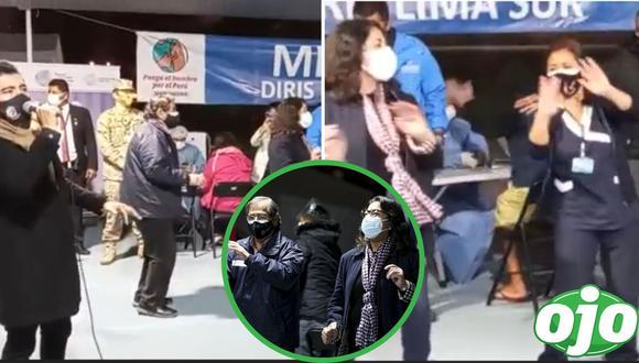 Usuarios indignados tras ver a ministros bailar 'Ojalá que te mueras' en la Vacunatón. Foto: (Captura/EsSalud).