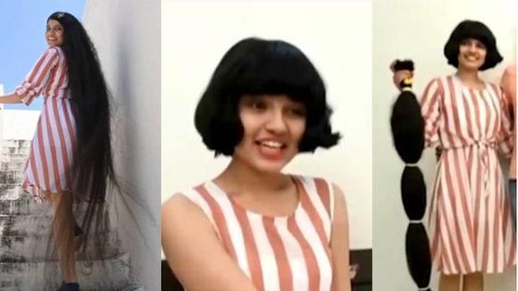 La 'Rapunzel de la vida real' cortó su cabello de 200 centímetros de largo después de 12 años