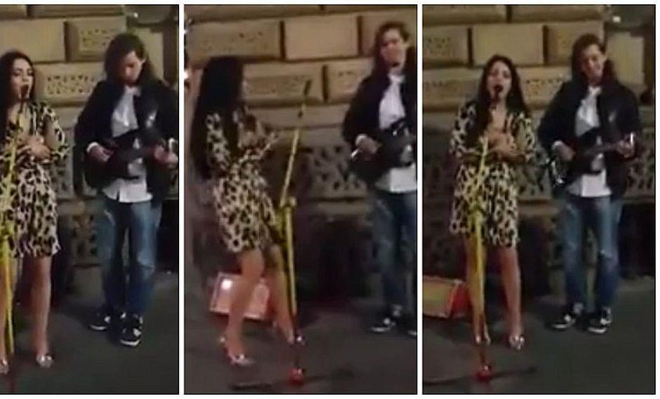 Facebook: músico callejero es sorprendido por muchacha y al unir sus voces ocurre esto