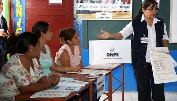 Los miembros de mesa deben estar antes de la hora del inicio de las elecciones para la instalación de la mesa (Foto: Andina)