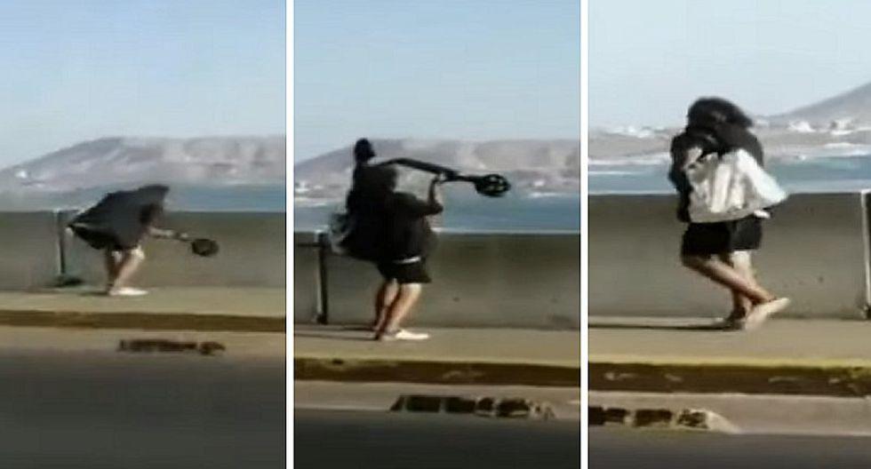 Hombre es sorprendido arrojando un scooter en Barranco (VIDEO)