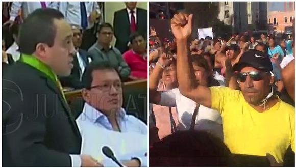 Félix Moreno: Evalúan pedido de prisión preventiva y simpatizantes lo apoyan (VIDEO)