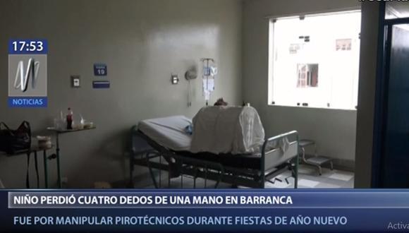 El menor fue estabilizado en Barranca y luego llevado a Lima. (Canal N)