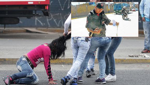 Huancayo: Mujeres se pelean hasta jalarse de los pelos por amor de albañil