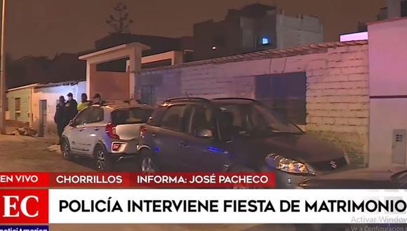 La fiesta de matrimonio fue intervenida por los agentes de la Policía. (América Noticias)
