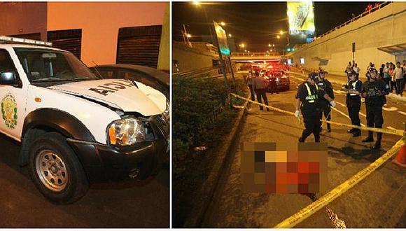 Cercado de Lima: patrullero mata a hombre que intentaba cruzar la vía Expresa Grau (VIDEO)