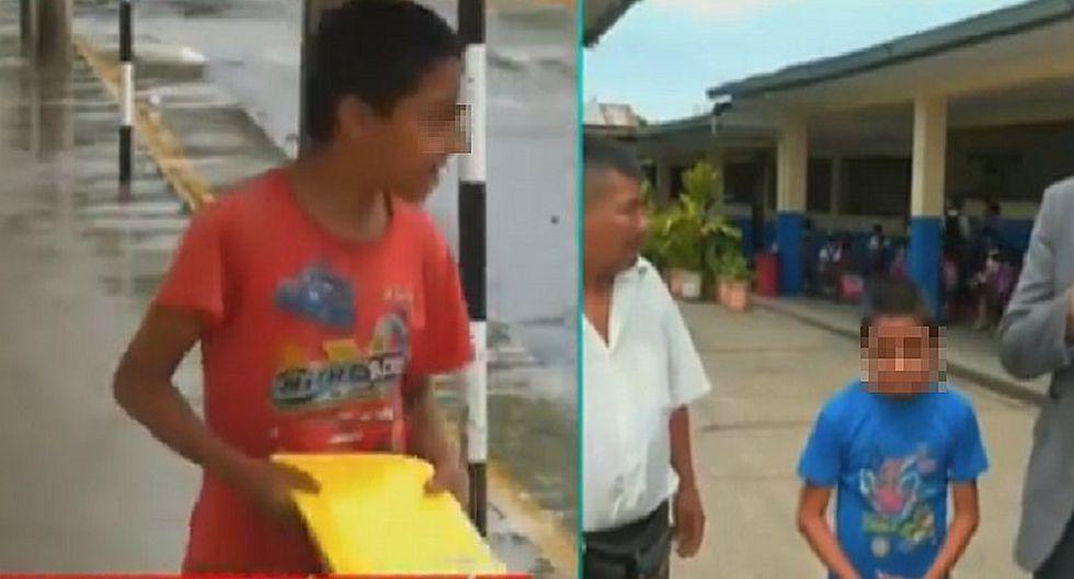 Niño que camina dos horas para ir a su colegio, tiene a su mamá con cáncer (VIDEO)