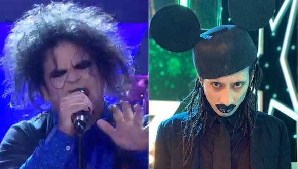 "Imitadores de Marilyn Manson y Robert Smith se enfrentaron en ""Yo Soy"". (Foto: Captura Latina)"