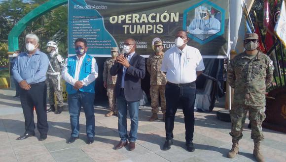 """En """"Operación Tumpis"""" visitaron más de 5 mil viviendas para evitar el coronavirus (Foto: Gore Tumbes)."""