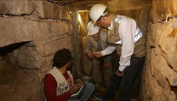 Hallan en Monumento Arqueológico Chavín de Huántar galerías subterráneas con entierros humanos