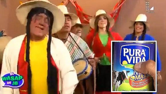 """Wasap de JB: la Paisana Jacinta troleó a """"Pura Vida"""" haciéndole canción (VIDEO)"""