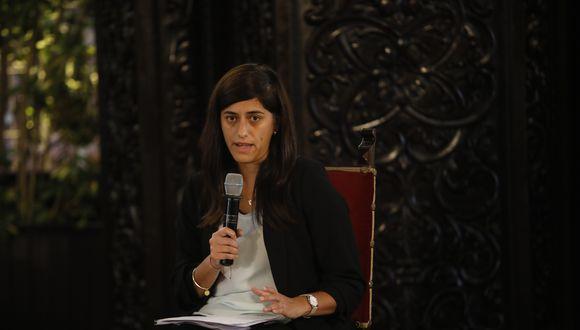 María Antonieta Alva dio a conocer la posibilidad de un nuevo bono en un foro organizado por la firma Bloomberg. (Foto: Jose Rojas / GEC)