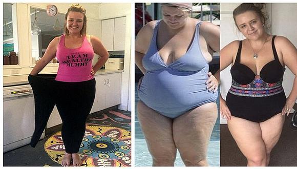 Mamá que pesaba 128 kilos, logra cambiar su físico sin dietas ni ejercicios (FOTOS)