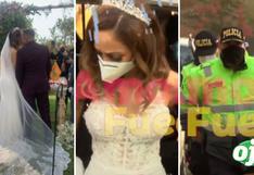 Olinda Castañeda: su ceremonia de matrimonio con Christian Marcial termina en intervención policial