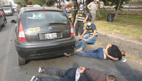 La policía capturó a los tres delincuentes que asaltaron a empresario