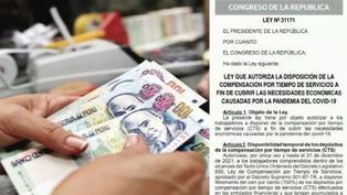 El Poder Ejecutivo publica ley que autoriza el retiro del 100% de la CTS
